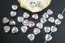 70 pcs Mixed Tibetan silver letter heart beads A1604