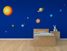 Planetary Solar System 11 Piece Printed Matte Removable Vinyl Wall Art planets