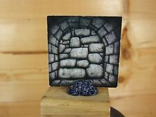 HEROQUEST WIZARDS OF MORCAR STONE WALL CARD PLUS STAND (2645)
