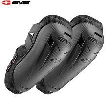 EVS Option Motorcycle Motorbike Reinforced Elbow Guards Pair Adult - Black