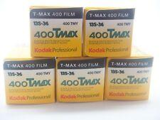 5 x KODAK TMAX 400 35mm EXP a buon mercato nero e bianco pellicola per 1st Class Royal Mail
