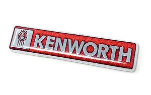 kenworth kw red emblem metal truck semi chrome