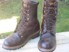 Carolina 8 inch Brown Leather Waterproof Logger Work Boots Men's Size 9D #CA8821