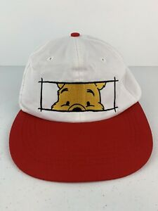 """Disney Winnie The Pooh Kids Red White Small US Size 6 7/8"""" Hat Cap"""