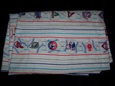 MLB Baseball 1998 flat twin bed sheet vintage Montreal Expos Marlins Devil Rays