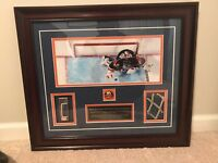 Rick DiPietro Game Used Stick, Game Used Net Collage STEINER Sports w/ COA