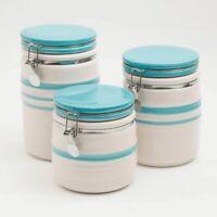 Kitchen Ceramic Canister Set - 3 pcs Cookie Storage Jar  - Canisters Set