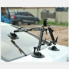 Professional Vedio Car Gripper Suction Cup Camera Mount System Tripod +Ball Head