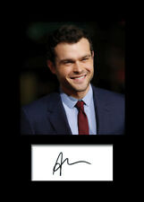 ALDEN EHRENREICH #2 A5 Signed Mounted Photo Print - FREE DELIVERY