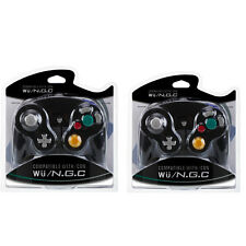 2 Black Shock Game Controller Pad for Nintendo Gamecube GC Wii NEW