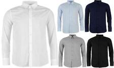 Camicie casual da uomo in poliestere con colletto regolare