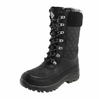 Women's Winter Waterproof Snow Boots Faux Fur Lined Warm Insulated Mid Calf