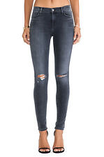 $209 J Brand 620 Mid Rise Super Skinny Jeans in Nemesis Destroyed Grey Size 26