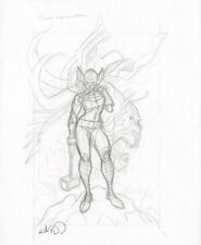 Female Thor Jane Foster Pencil Commission - Signed art by Nick Bradshaw Comic Art