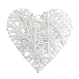 Woven Rattan Wreath Pendant Star Heart Garland Christmas Wedding Decor DIY Craft