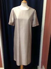 Max Mara Silk Shift Dress with Embellished Sleeves