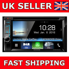 "Kenwood DDX8016DABS 6.2"" Double Din Bluetooth DAB Tuner USB Apple CarPlay Aerial"