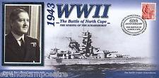 1942-2002 Benham seconda guerra mondiale sessantesimo anniversario COVER-affondamento di Scharnhorst