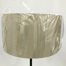 NEW Grey Beige Weave Textured Circular Ceiling Lamp Lampshade Light Shade 131285