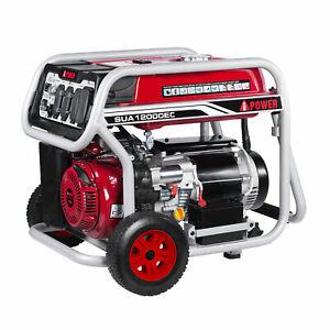 12000 Watts Gas Generator Ez start 13 hp  20 30 50 amp outlets runs 3 ton ac new