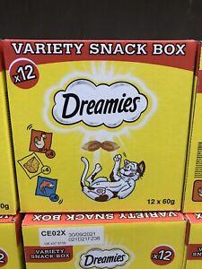Dreamies Cat Treats Variety Snack Box – 12 Piece Brand New