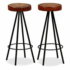 Vidaxl 2x sgabelli da Bar in vera Pelle e tela sedie alte cucina Seggiole