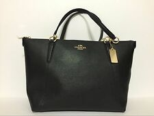 NEW Coach Ava Crossgrain Leather Tote F57526 Black $350