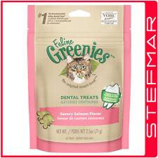 4 x Greenies Cat Feline 71g 71 gms Salmon