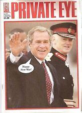 Private Eye Magazine # 1070 27 de diciembre de 2002 cubierta de George W. Bush Iraq War