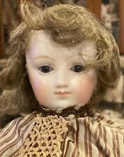 """18"""" Antique C1875 French Bisque Poupee Peau by E. Barrois w/Lovely Silk Costume"""