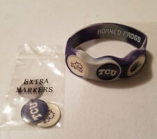 Wrist Skins Golf Ball Marker Bracelet,TCU Horned Frogs, Magnetic, Size XL,L,M,S