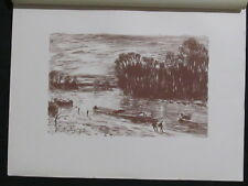 Alfred Sisley  Le Loing près Saint-Mammès  lithographie originale 1897