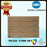 New & Original Konica Minolta TN324 Full Toner Set of 4 CMYK Bizhub C368 C308 #7