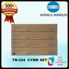 New & Original Konica Minolta TN324 Full Toner Set of 4 CMYK Bizhub C368 C308