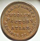 ATLAS Michigan F J & J Palmer's Civil War Store Card Token MI 045A-3a