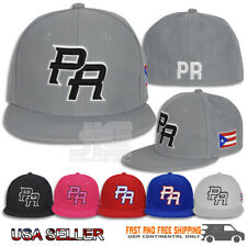 0d7f99005 PR Fitted Caps Puerto Rico Embroidered hat Front Side Baseball Size Adult  New