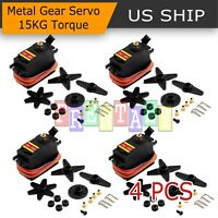 4PCS XMG996R Metal Gear MG995 Digital Torque Servo Motor For Futaba JR RC Truck