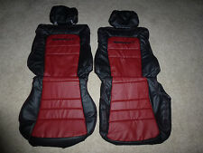 Custom 1991-1999 Mitsubishi 3000GT/Stealth Synth Lthr Seat Cover Black/Burgundy