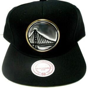 RARE NBA Mitchell and Ness Golden State Warriors Snapback Triple Gold Hat Cap