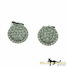 Magnificent Small Round Diamond Perlee-Like Earstuds in 18k White Gold