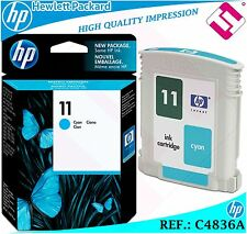 INK CYAN 11 ORIGINAL PRINTERS HP CARTRIDGE BLACK HEWLETT PACKARD C4836A