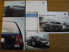 VW VOLKSWAGEN PASSAT ESTATE CAR BROCHURES, 2000's X 5 jm