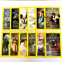 Lot Of 12 NATIONAL GEOGRAPHIC MAGAZINES-12 Issues-year 1990