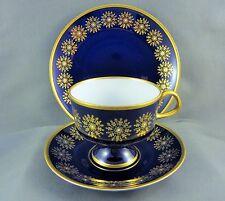 LICHTE FINE CHINA Set- Echt Kobalt Pattern- Teacup, Saucer, Dessert Plate