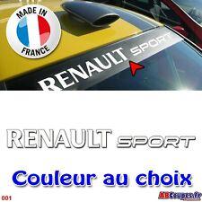 Lettrage Pare soleil Renault Sport - Sticker autocollant mégane clio twingo 001