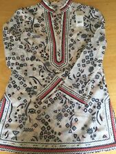 Tory Burch $295 Tory Tunic Zero 0 Embroidered Top Swim Cover NWT Ivory Multi