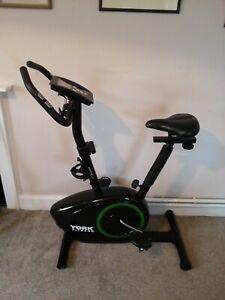 York Active 110 Fitness Black Exercise Bike - Full LCD Digital Display