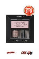 Korres Nail Gel System Nude Pink & Top Coat 10ml *2 STEP SET Nail Polish*