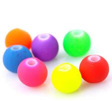 250 Acrylic mixed Bright Neon Bubblegum  Beads 6mm Random Mix  Free postage