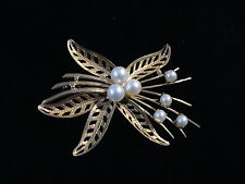 Vintage 18k pearl pin, completely handcrafted, one of a kind! 5.4g 18k gold